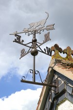 Weathervane - Rustic Iron - Cat & Mouse
