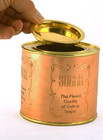 Copper and Polished Brass Tea, Sugar & Coffee Tins