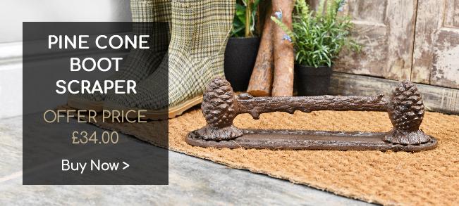 Pine Cone Boot Scraper